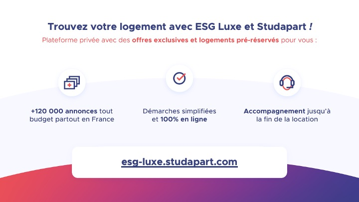 Se loger avec ESG Luxe et Studapart | ESG Luxe